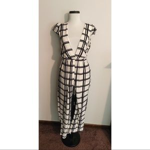 UO Black & White Jumpsuit